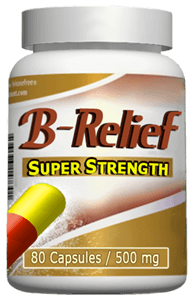 Baker's-Knee-Cyst-Cure B-Relief SUPER Capsules. Dissolves Baker's Cyst Naturally. INFO: